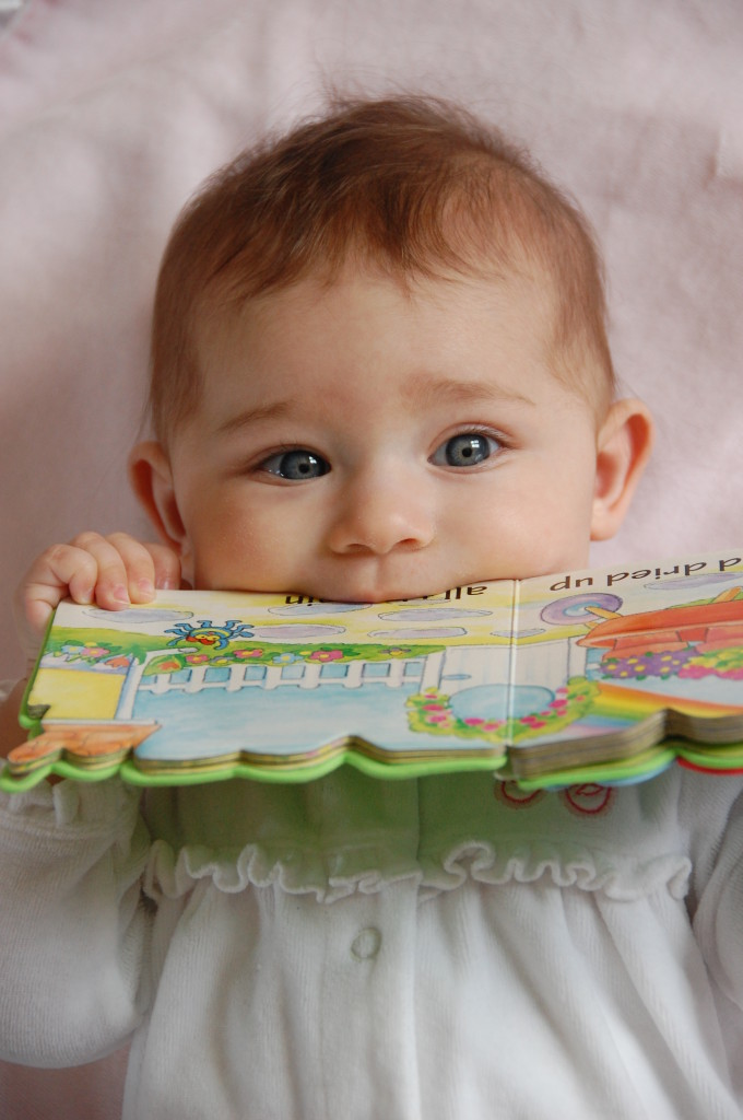 Arianna with Book